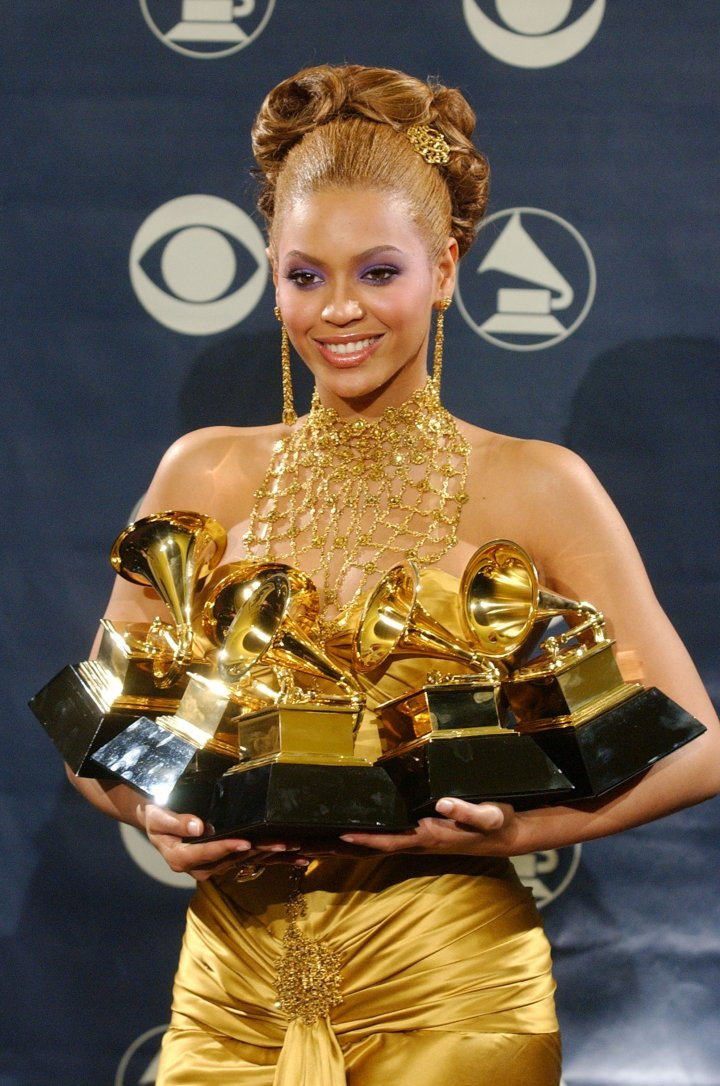 Beyonce wins like a million Grammys and looks amazing doing it
