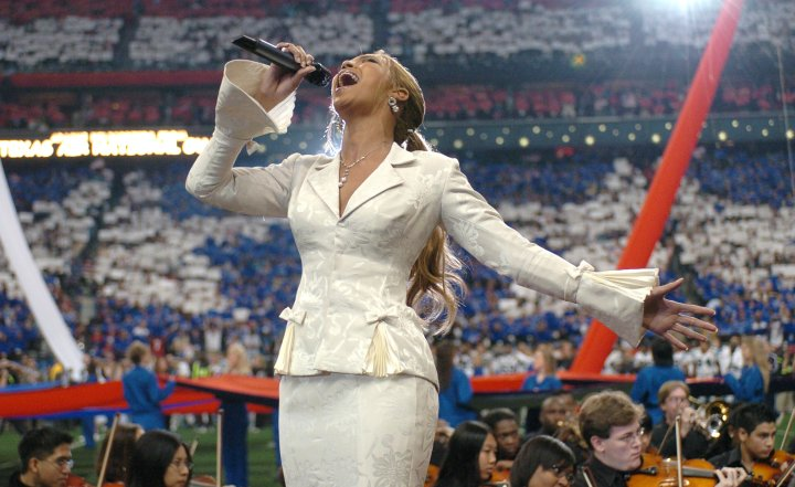 Beyonce slays the national anthem