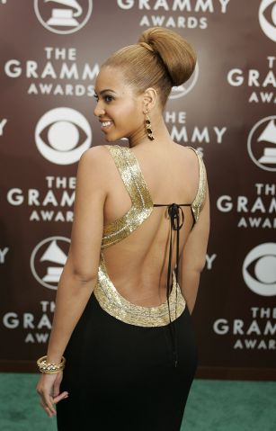 Singer Beyonce Knowles arrives at the 47th annual Grammy Awards at the Staples Center in Los Angele