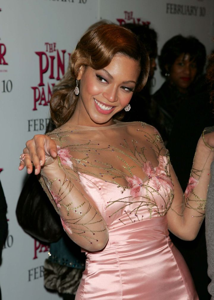 Bey is pretty in pink
