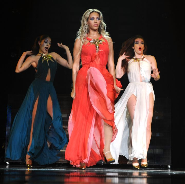 Bey rocks the maxi dress and looks as beautiful as ever