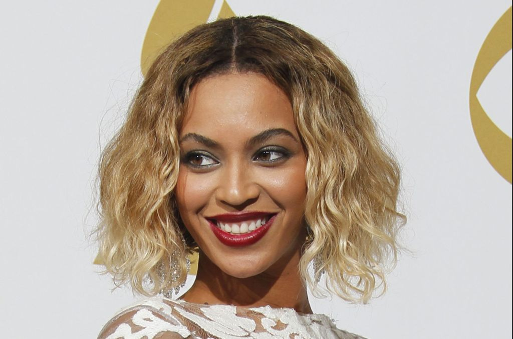 Beyonce poses backstage at the 56th Annual GRAMMY(R) Awards at STAPLES Center in Los Angeles, CA. S
