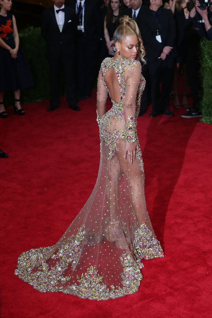 Bey slays in this nude gown
