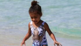 Kim Kardashian, North West, Kanye West, Kourtney Kardashian, Penelope Disick in Miami