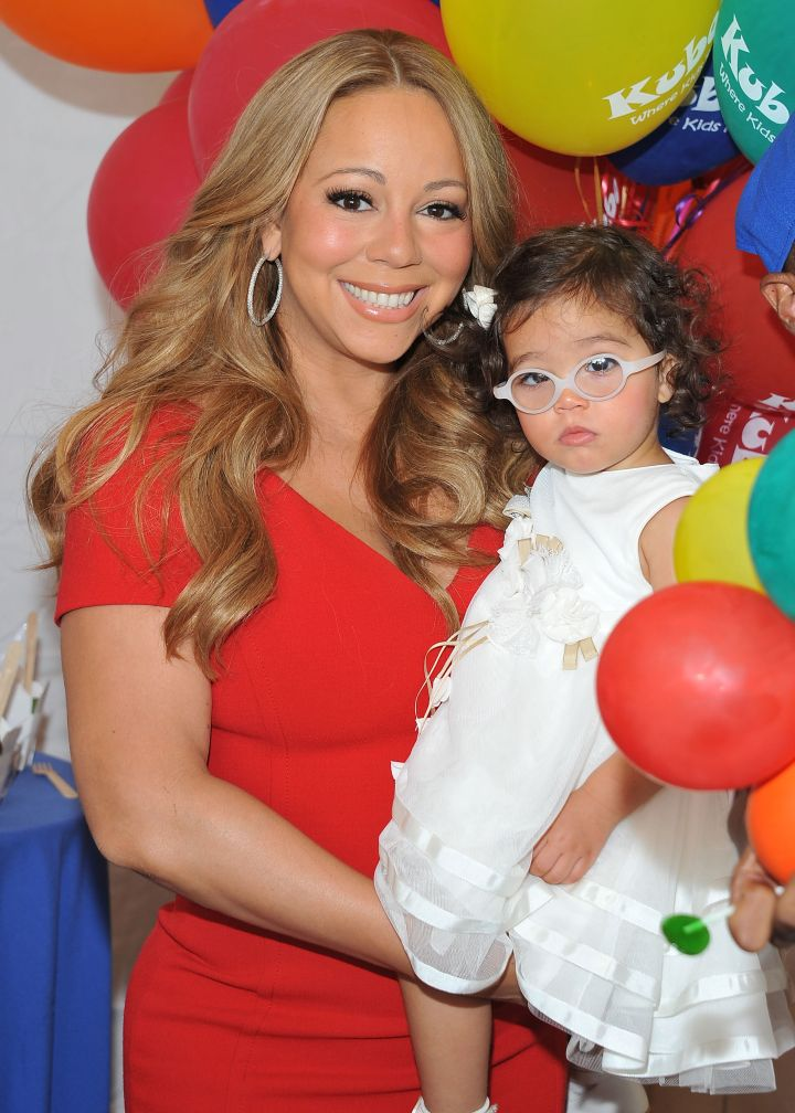 Beautiful Mariah with her daughter Monroe
