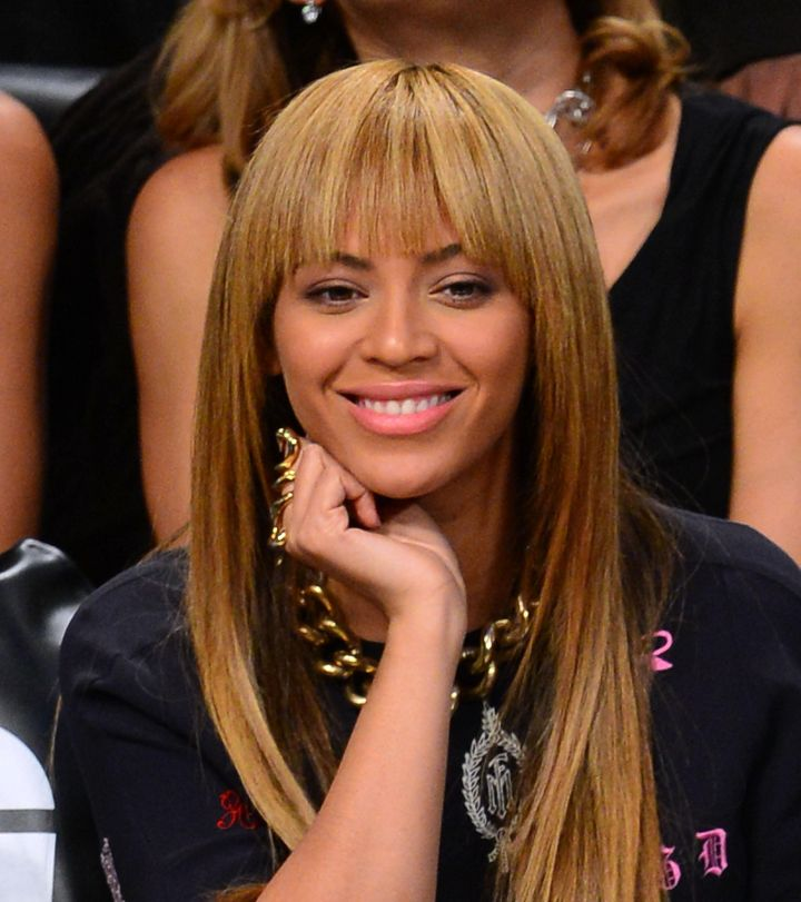 Bey with bangs