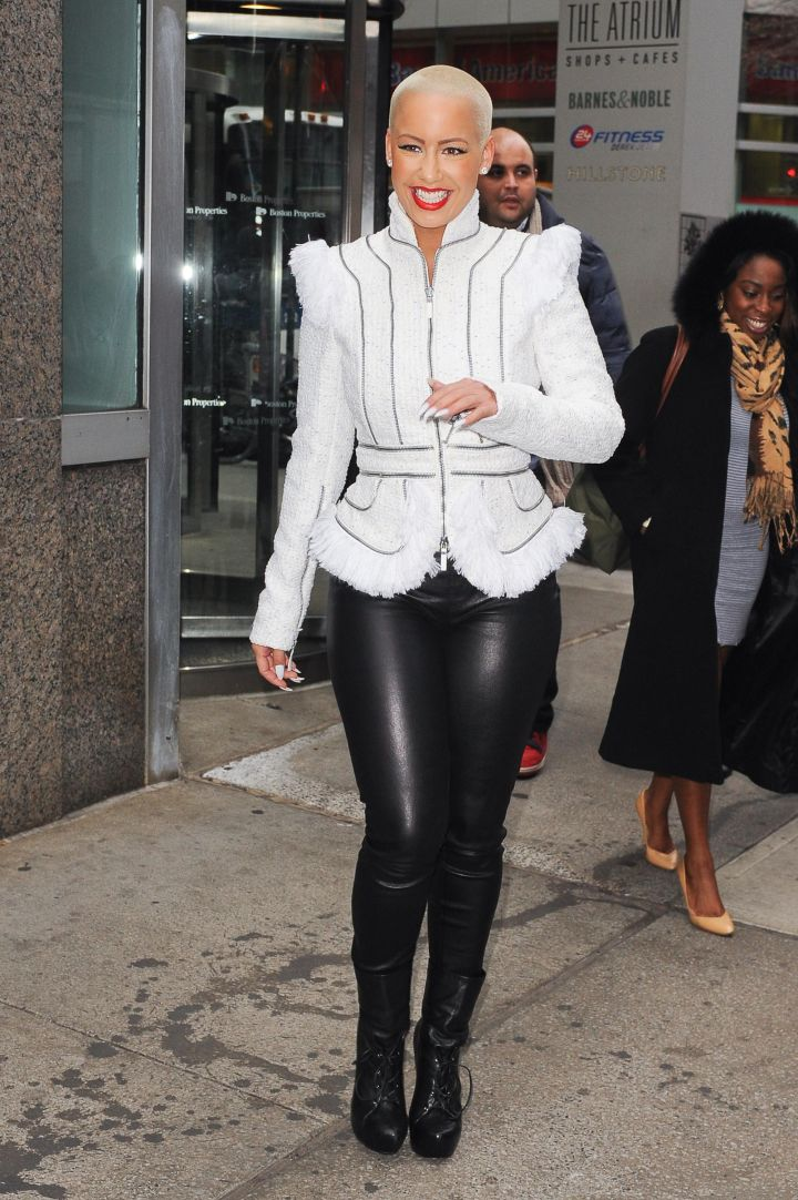 Amber Rose is a fan of the maverick look.