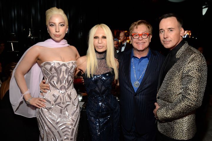 Donatella and Gaga would make the perfect double date for Elton John and his husband.