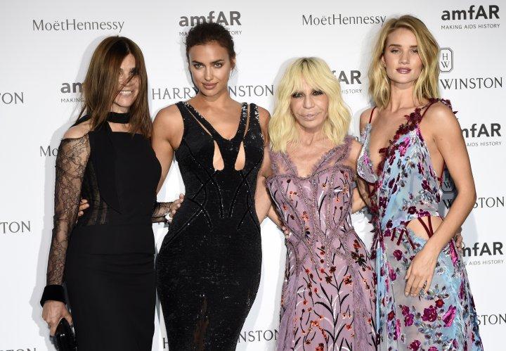 Model mania with Rosie Huntington and Irina Shayk.
