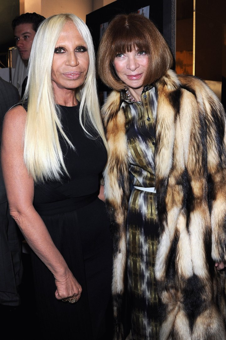 Fashion boss pose with the great Anna Wintour.