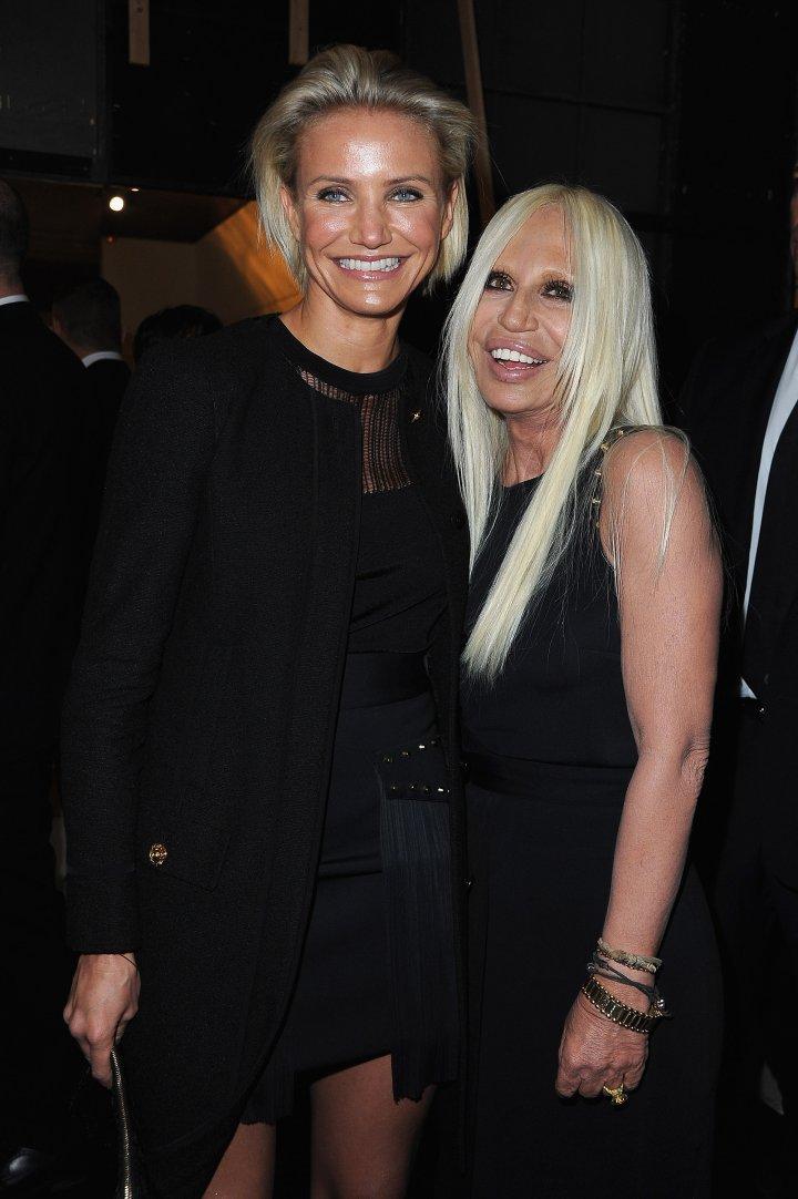 Donatella with Cameron Diaz.