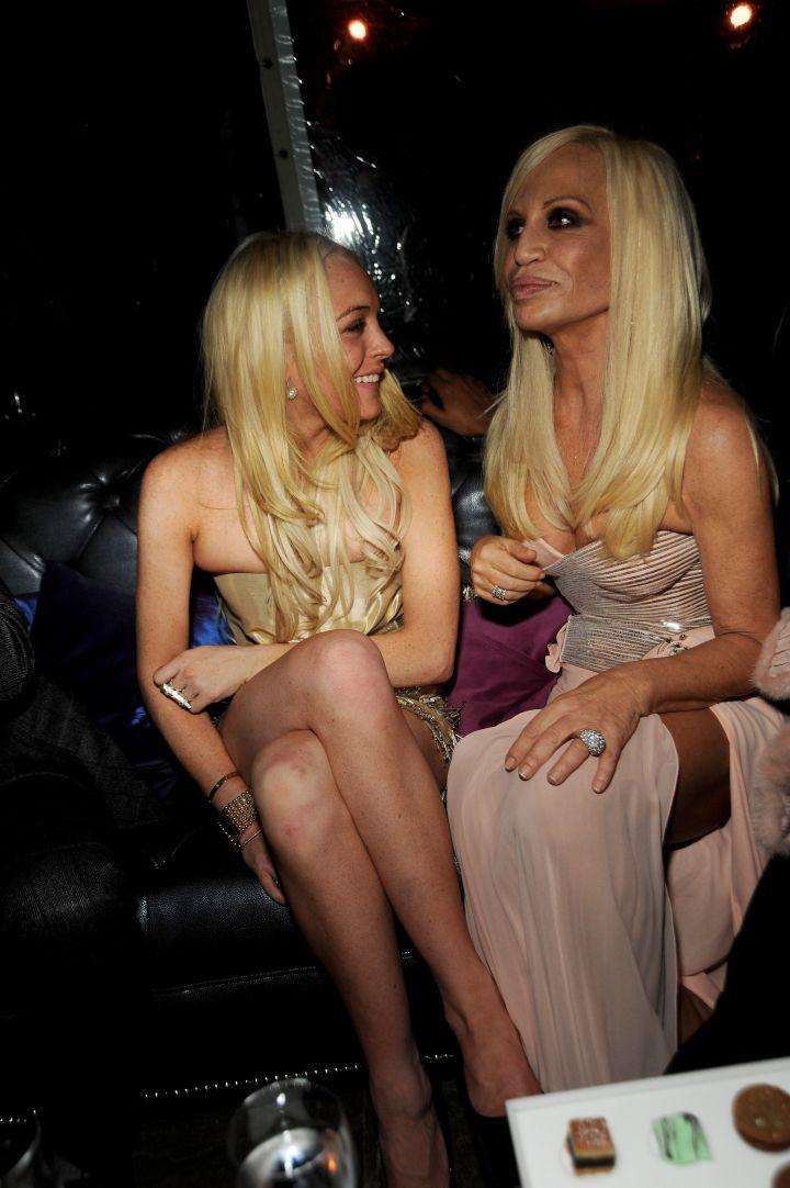 Lindsay Lohan and Donatella could be sisters, no?