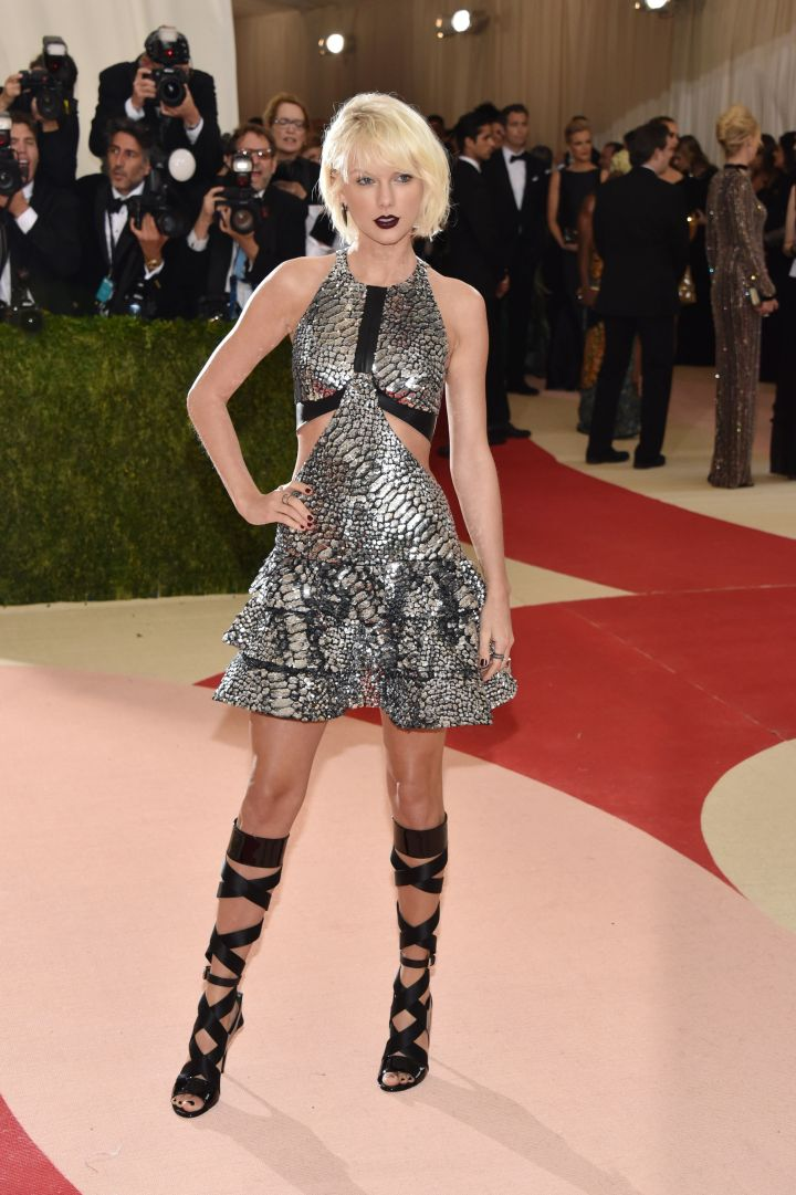 One of the evening's co-chair. Are you feeling Taylor Swift's look?
