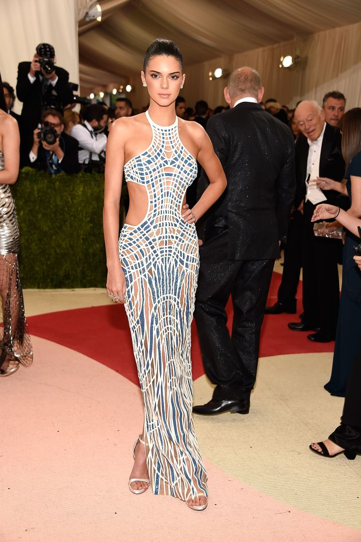 Kendall Jenner looks unreal in Versace.