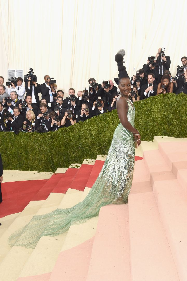 Lupita Nyong'o attends the 'Manus x Machina: Fashion In An Age Of Technology' Costume Institute Gala at Metropolitan Museum of Art.