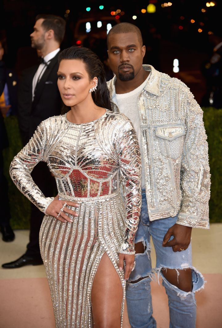 KimYe nailed the night's trend perfectly.