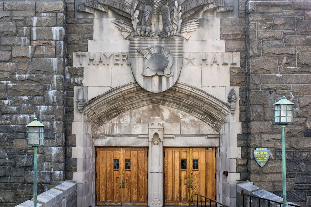 Thayer Hall, West Point Military Academy campus...