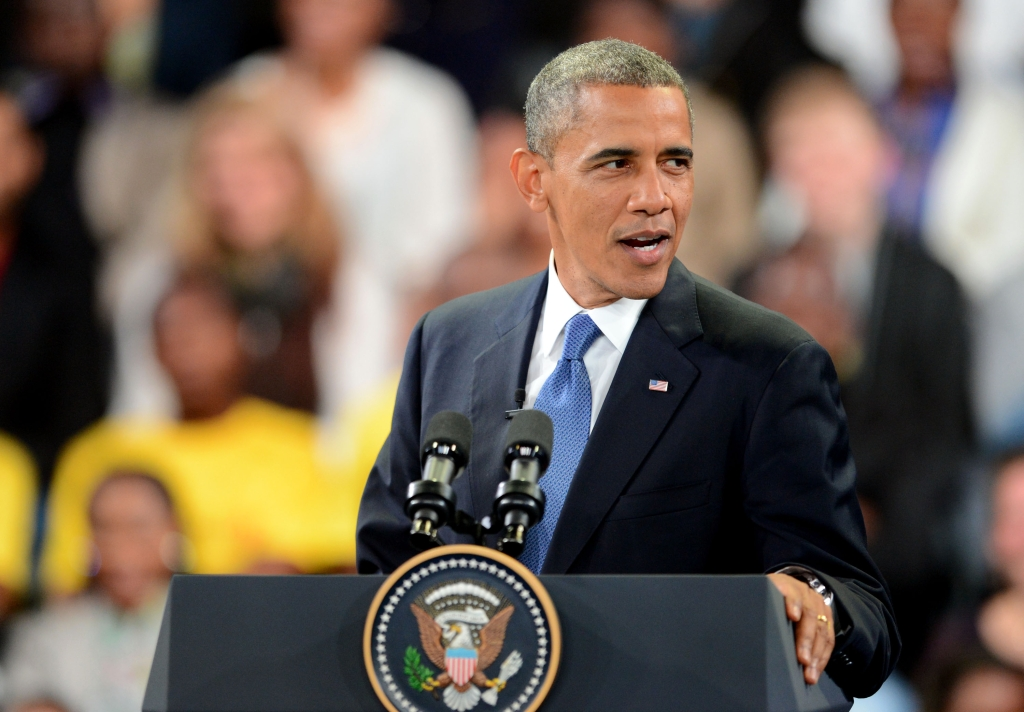 President Barack Obama in South Africa