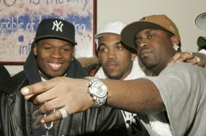 50 Cent And Lloyd Banks Host Holiday Shopping For The Homeless