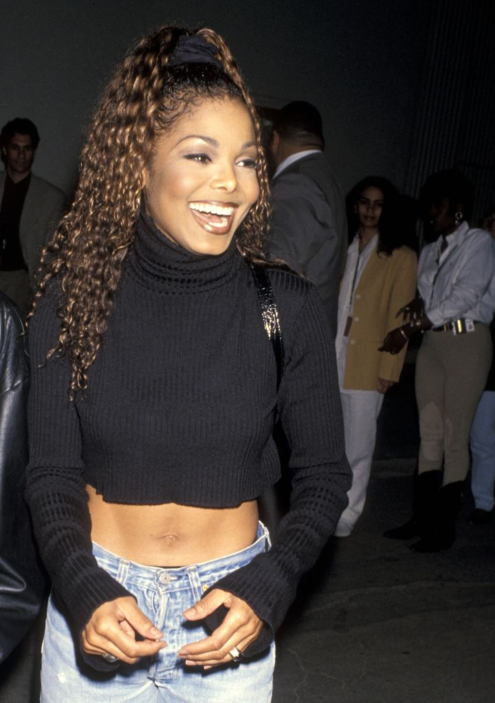 Ms. Jackson made it sexy to bare your sculpted abs in a midriff top.