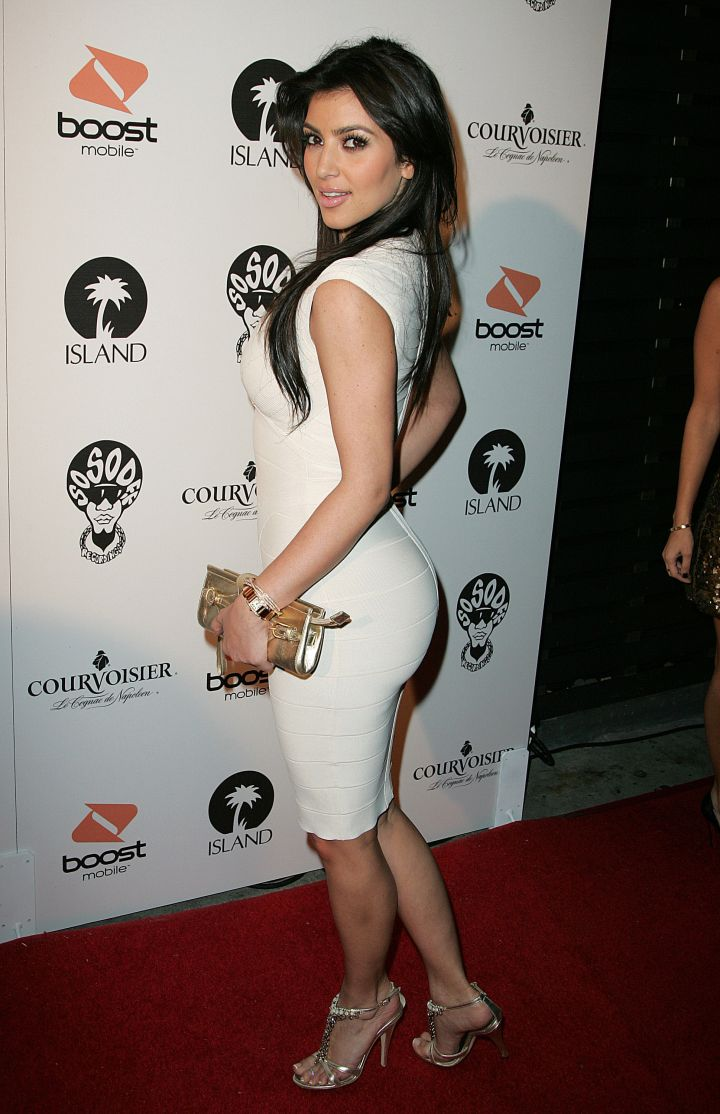 Throwback 2008 booty at Jermaine Dupri's pre-Grammy party.
