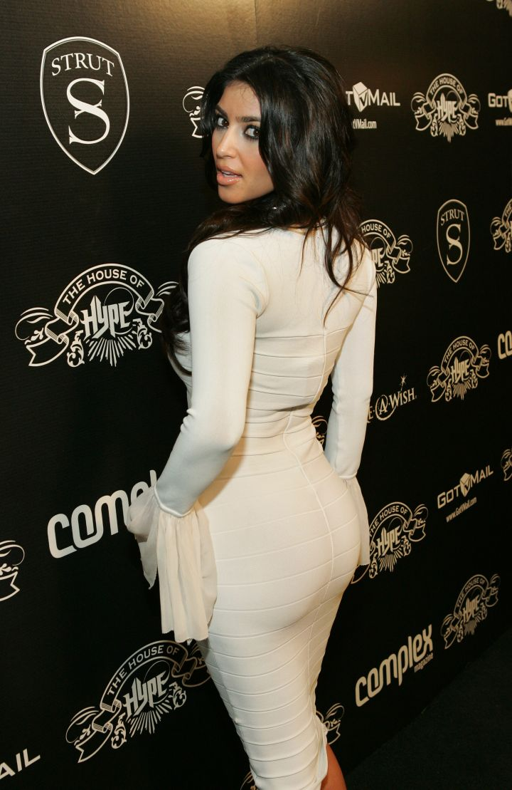 Kim K. always had a nice booty. Here she is at House of Hype in 2007.