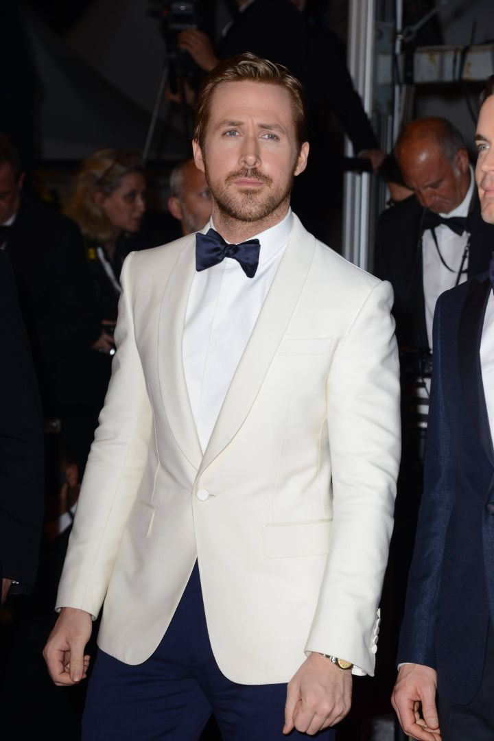 """Ryan Gosling suited up for the premiere of """"The Nice Guys."""""""