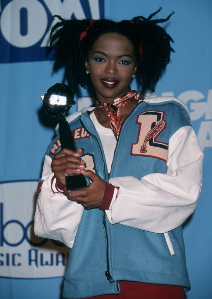 Lauryn Hill, aka L Boogie, received her award for R&B Album Of The Year in 1998.