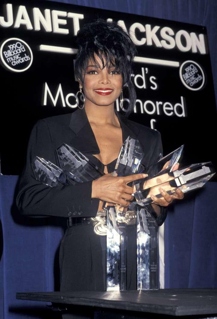 Janet Jackson won multiple awards beginning back in the 1980s.