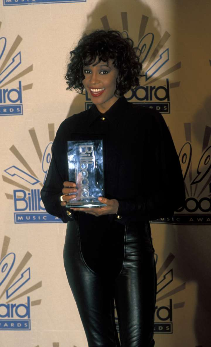 """Whitney Houston was deemed """"The Voice"""" after her success on the Billboard charts in 1990."""
