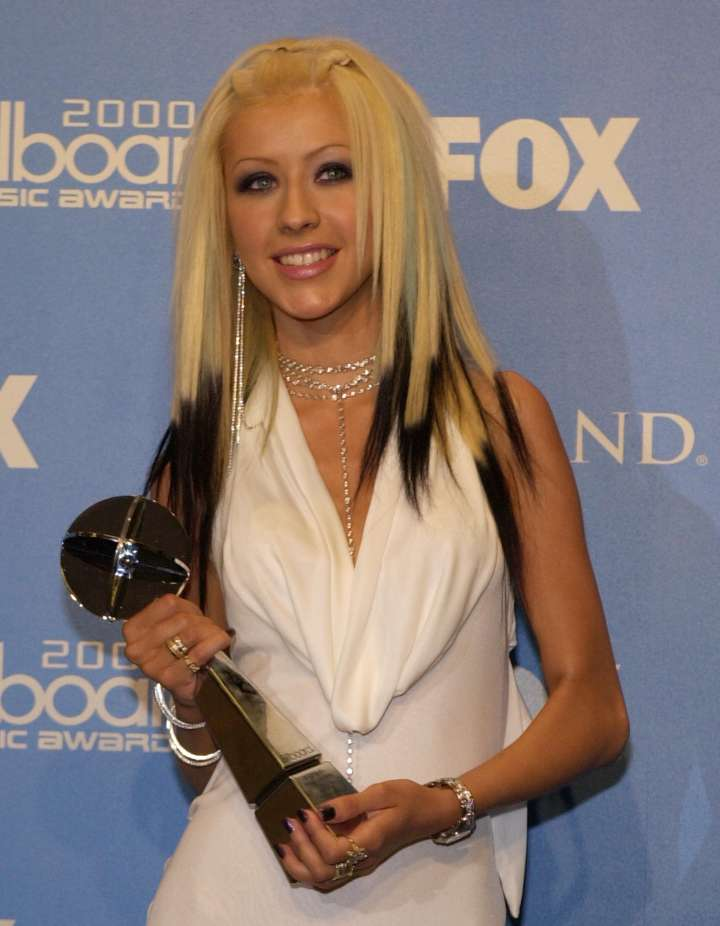 """Christina Aguilera back in her 2000 """"Dirty"""" days."""