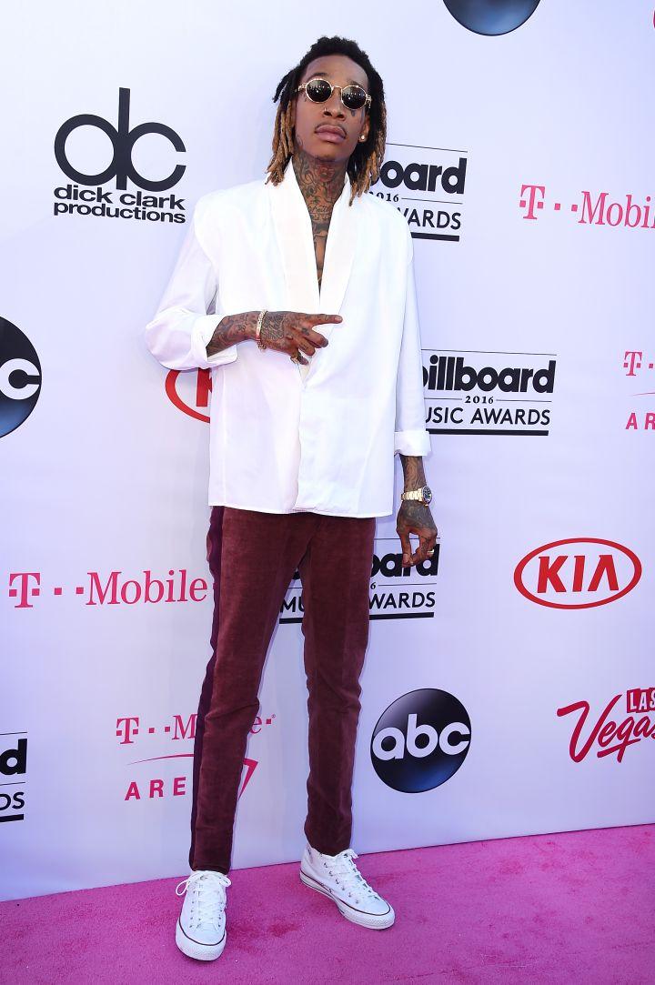Wiz Khalifa kept it casual, per usual.