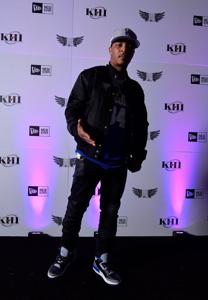 T.I. performed at the New Era NASCAR All-Star weekend kickoff.