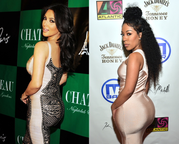 Kim Kardashian and K. Michelle