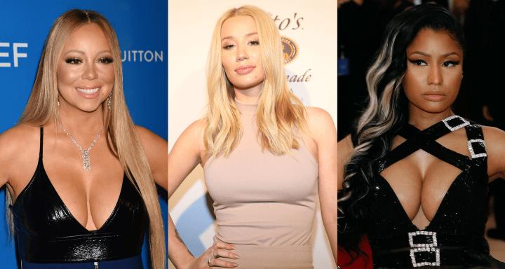 Mariah Carey, Iggy Azalea and Nicki Minaj