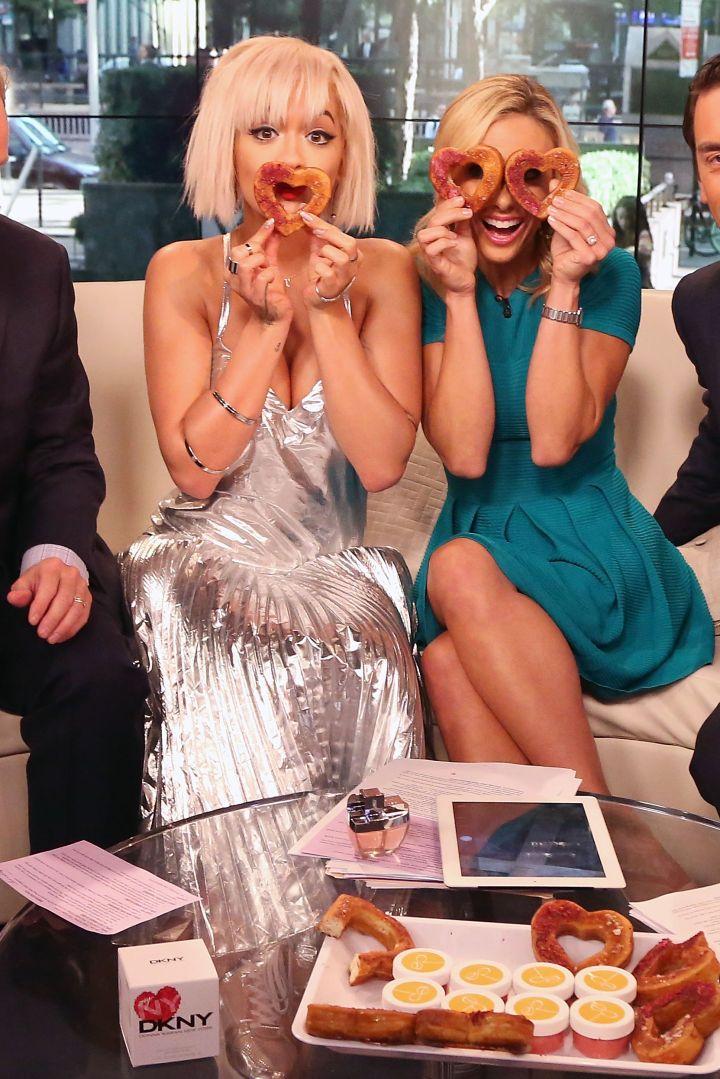 Rita Ora and Elisabeth Hasselbeck