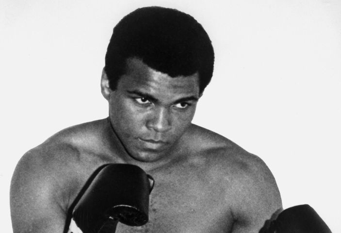 A portrait of Muhammad Ali