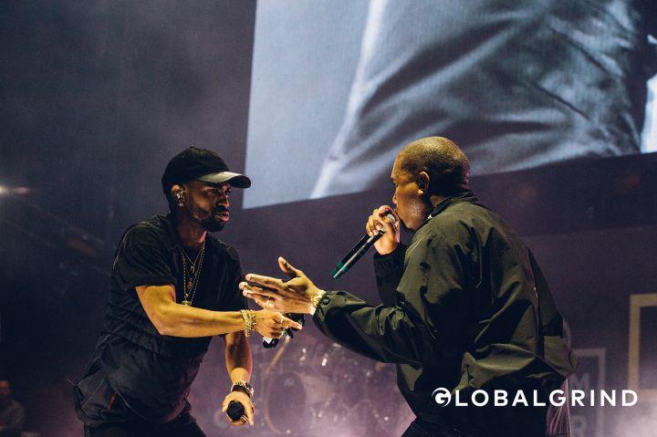 Big Sean and Kanye West performing at 2016 Hot 97 Summer Jam at Met Life Stadium.