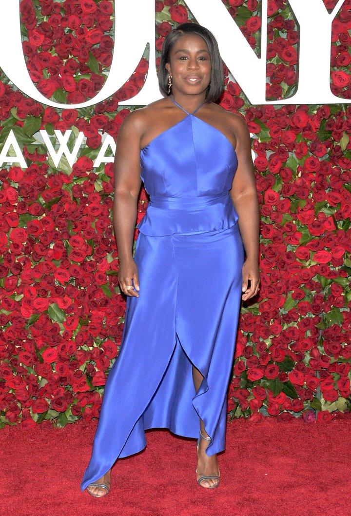 Actress Uzo Aduba wore electric blue.
