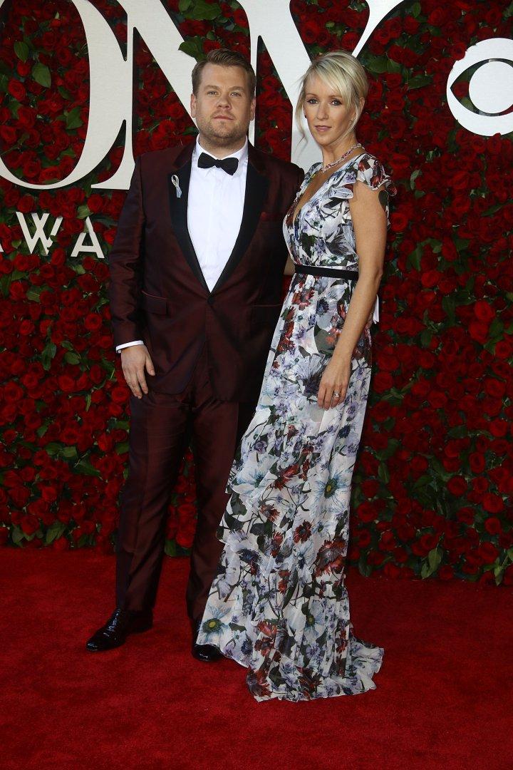 TV personality and Tony host James Corden & Julia Carey.