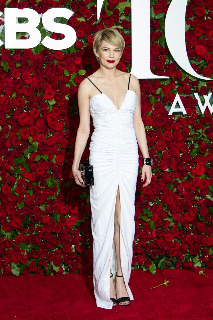 Actress Michelle Williams went for white.