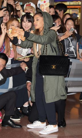 Ariana Grande Arrives In Tokyo
