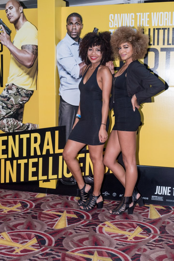 Jessica and Priscilla brought the curls to the #XillaMovieParty for Central Intelligence in New York City