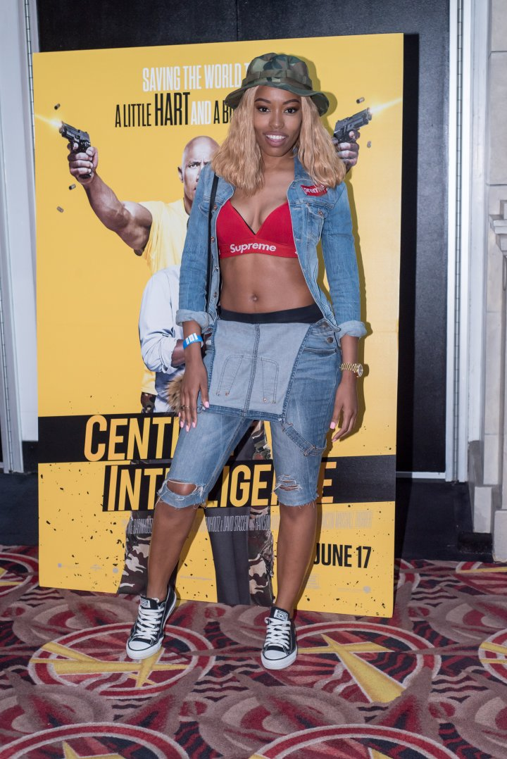 Rapper Nyemiah Supreme looked stunning at the #XillaMovieParty for Central Intelligence in New York City