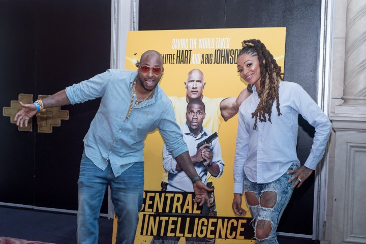 Dutchess and Ceasar of VH1's Black Ink Crew showed up the #XillaMovieParty for Central Intelligence in New York City