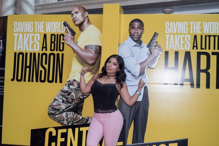 Actress Jessenia Vice was team Johnson at the #XillaMovieParty for Central Intelligence in New York City