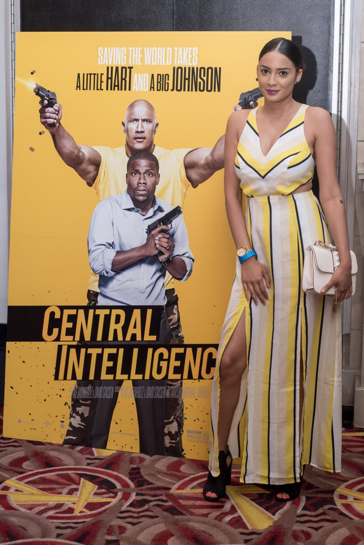 Sasha Merci attends the #XillaMovieParty for Central Intelligence in New York City