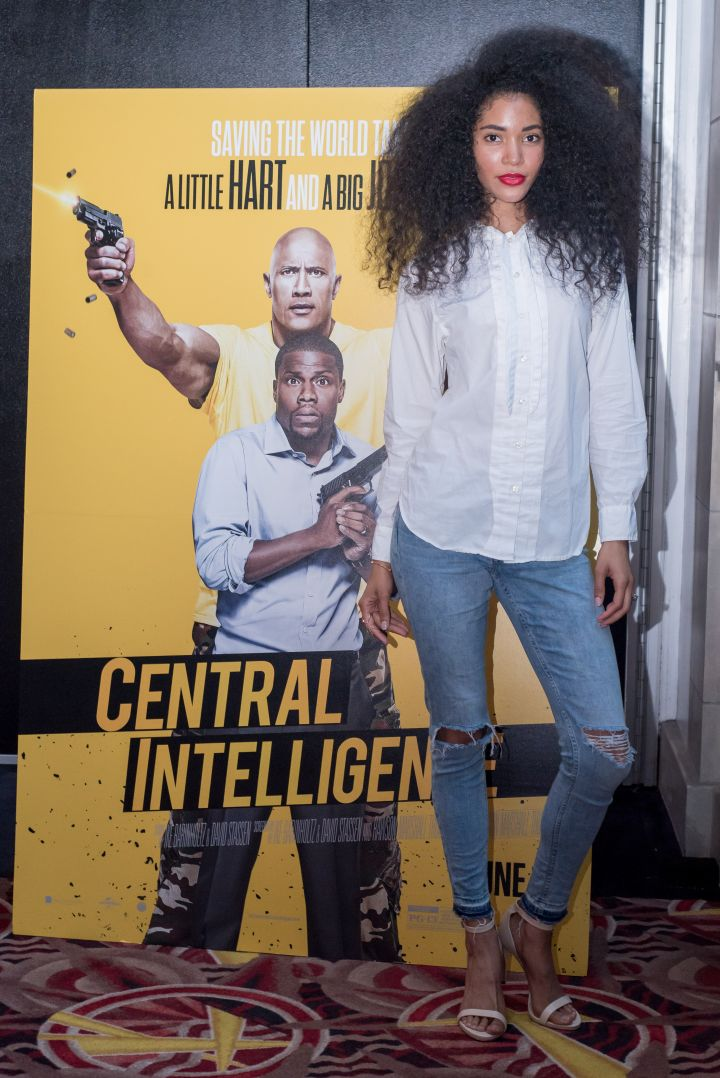 Model Jordan stops by the #XillaMovieParty for Central Intelligence in New York City