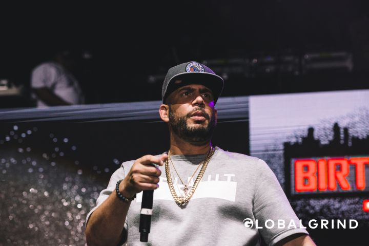 DJ Drama showed up to get the crowd hype at Hot 107.9's Birthday Bash concert in Atlanta.