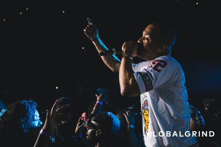 Ti jumped into the crowd for some love at Hot 107.9's Birthday Bash concert in Atlanta.